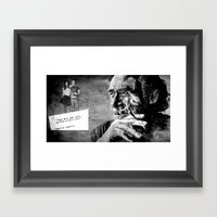 Charles Bukowski - Love … Framed Art Print
