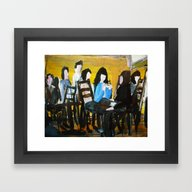Framed Art Print featuring Let's Have A Coffee, And… by James Peart