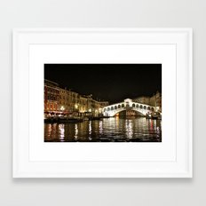 Rialto Bridge Framed Art Print