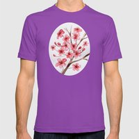 Flowers Mens Fitted Tee Ultraviolet SMALL