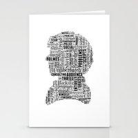 Sherlock BBC Benedict Cumberbatch Typography Silhouette Stationery Cards