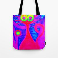 Psychedelic Cat Tote Bag