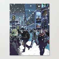 Phantoms in the Courtyard Canvas Print