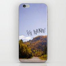 seek adventure iPhone & iPod Skin