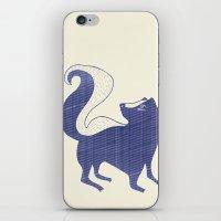 Blue Skunk iPhone & iPod Skin