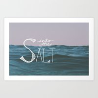 Into The Salt Art Print
