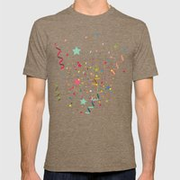 Wishes As Confetti / New… Mens Fitted Tee Tri-Coffee SMALL