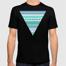 EMERALD CHENOA PATTERN Mens Fitted Tee SMALL Black