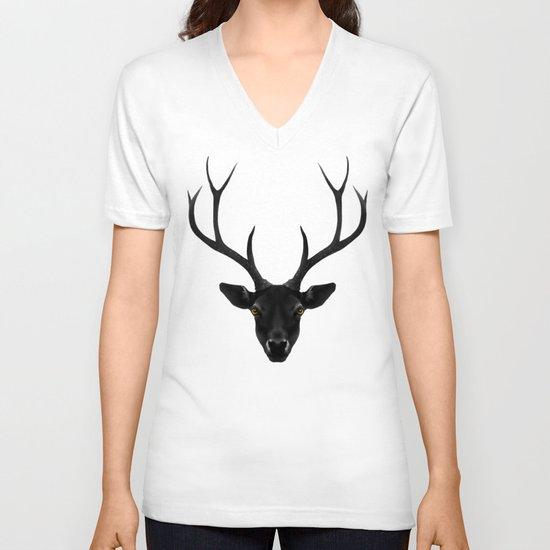 The Black Deer V-neck T-shirt