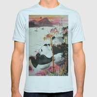 Romantic Evening Mens Fitted Tee Light Blue SMALL