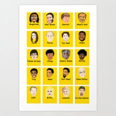 Community Guess Who Faces Art Print