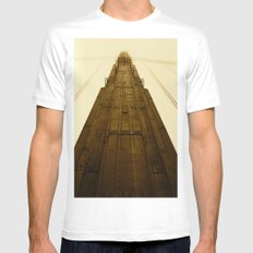 Golden Gate Bridge White Mens Fitted Tee SMALL