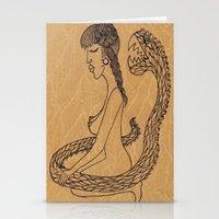 SnakeGirl  Stationery Cards