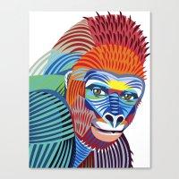 Colorful Gorilla Canvas Print