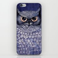 La Sagesse du Hibou (The Blue Owl) iPhone & iPod Skin