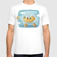 AIRSHIP IN A BOTTLE Mens Fitted Tee White SMALL