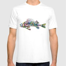 FISH White Mens Fitted Tee SMALL