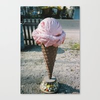 Giant Ice Cream Canvas Print