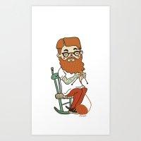 Wool Beard Art Print