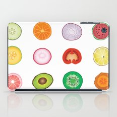 Fruit and Vegetable Collaged Art iPad Case