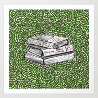 Book Drawing Meditation … Art Print