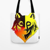 The Solar Wolf Tote Bag