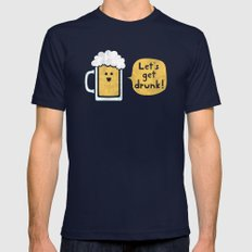 Drinking Buddy Mens Fitted Tee Navy SMALL