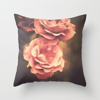Roses (Vintage Flower Ph… Throw Pillow