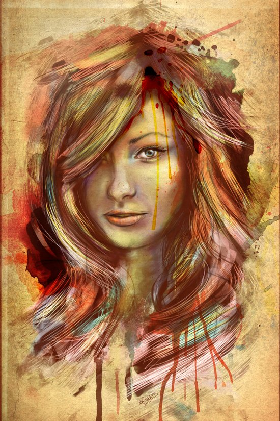Olivia Wilde Digital Painting Portrait Art Print