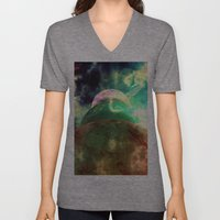 Meanwhile, Somewhere In … Unisex V-Neck