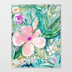 PALE PINK HIBISCUS Canvas Print
