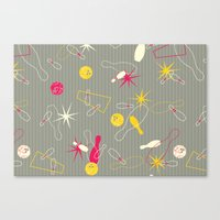 Bowling Pinstripe Canvas Print