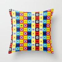 Squares Pattern Throw Pillow