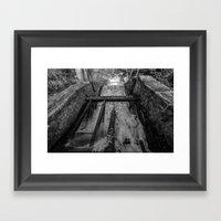 Rush(Black & White) Framed Art Print