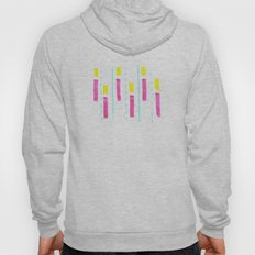 Pink and Lemon Stripes  Hoody