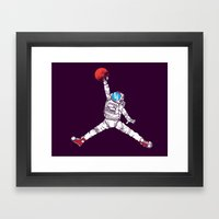 space dunk (purple ver.) Framed Art Print