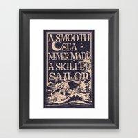 A Smooth Sea Framed Art Print