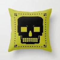 grrr skull. Throw Pillow