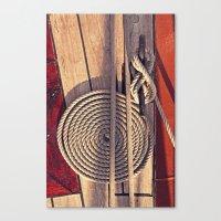 Sailboat Deck Canvas Print