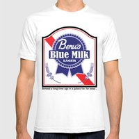 Beru's Blue Milk Lager Mens Fitted Tee White SMALL
