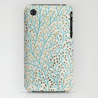 Berry Branches – Turqu… iPhone (3g, 3gs) Slim Case
