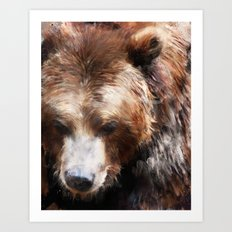 Bear // Gold Art Print