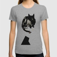 Cat Girl Womens Fitted Tee Athletic Grey SMALL