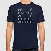 Hell is Empty Mens Fitted Tee Navy SMALL