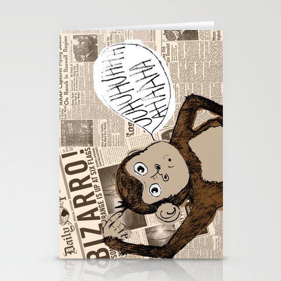 Bizarro Monkey Stationery Card