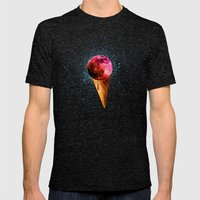 sweet side of the moon Mens Fitted Tee Tri-Black SMALL