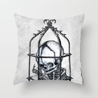 Fetus Cage Throw Pillow