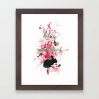 Off To Wonderland Framed Art Print