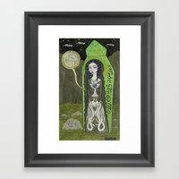 Snow White in her Glass Coffin Framed Art Print
