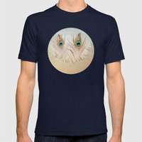 Staring Out The Icy Wind… Mens Fitted Tee Navy SMALL